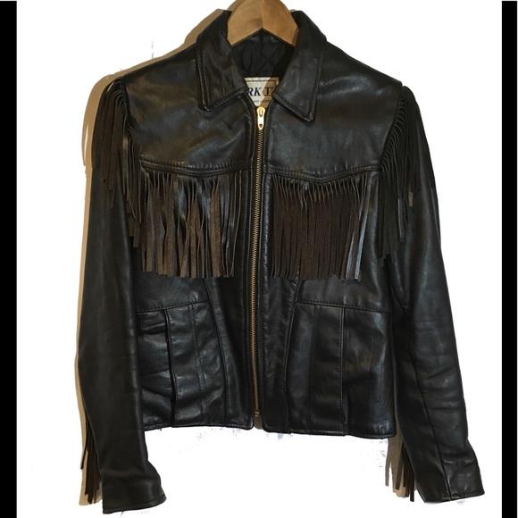 01219734a 🎙Vintage Women's Park 5 Leather Fringe Jacket. M_5b947f617386bc70a99cbc22